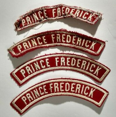 Lot of 4 Prince Frederick Red Shoulder Community Strip BSA Boy Scouts Patch 50's