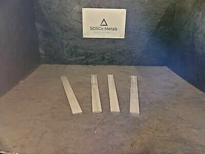 "4 pieces of 1/4"" X 1"" ALUMINUM 6061 T6511 SOLID FLAT BAR 12"" long"