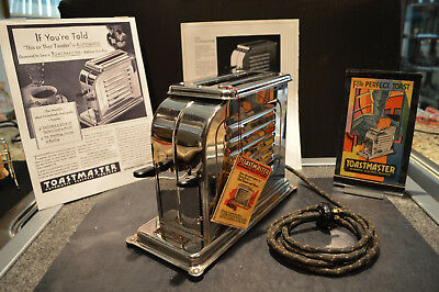 """Vintage Cica 1928 Toastmaster Model 1A1 First Electric """"Pop-Up"""" Toaster Restored"""
