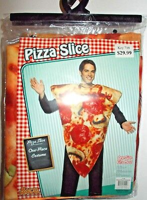 Pizza Slice Adult Costume Pepperoni Cheese disguise Funny Halloween Party