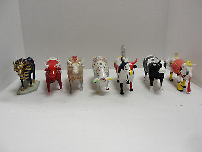 Vintage Lot of 7 Retired Cow Parade Figurines Westmoreland Giftware