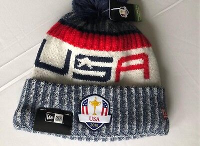db75a7dfd02 NEW 2018 New Era Team USA Knit Ryder Cup Beanie Winter Hat OLYMPICS TIGER  WOODS