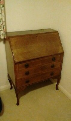 Antique veneered bureau