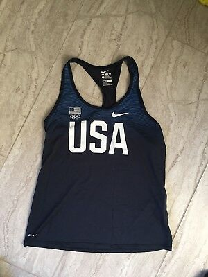Nike Womens Team USA United States Olympic Team Racerback Dri-Fit Tank Top  Shirt 8dd6f89107