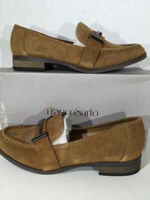 cbe7c92be4d FRANCO SARTO Baylor Women s Size 7.5 Tan Suede Slip On Loafers Shoes X12-569