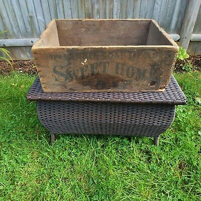 Large Antique Larkin Soap Mfg Co Sweet Home Wooden Crate Box