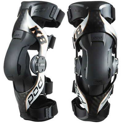 NEW Pod K8 MX 2.0 Unbreakable Left Right Braces Carbon Motocross Knee Brace Set