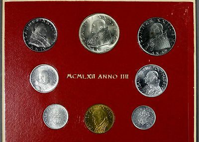 FOUR Vatican Mint Sets (1958-1962)   AND   TWO 500L Vatican Coins
