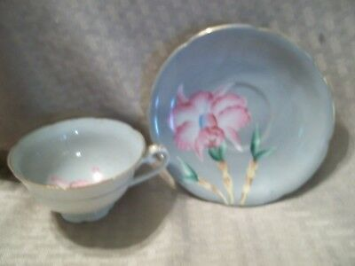 """Hand decorated """"Shafford"""" Porcelain Cup and Saucer Set"""
