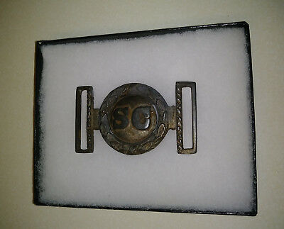 Civil War 2 Piece South Carolina Belt Buckle Modern Fake Looks Real