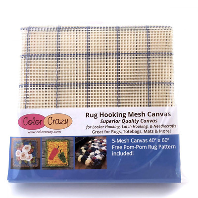 """Rug Hooking Mesh Canvas - 5 (40"""" x 60"""") with Free Pattern"""