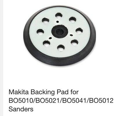 125mm-123mm Fit Makita Orbital Sanding Back Pad Base Velcro BO5031,DBO180Z &more
