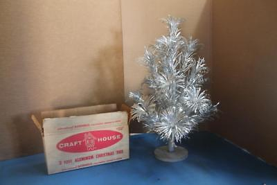 Vintage Craft House Aluminum Christmas Tree Pom Branches 2' With Original Box