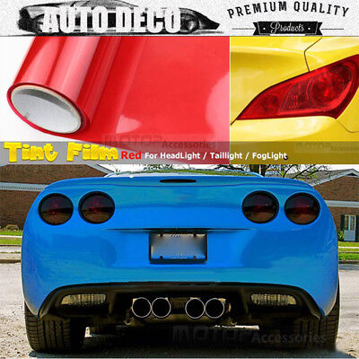 "12""x96/"" 1ftx8ft Headlight Taillight Fog Light Tint Vinyl Wrap Transparent Clear"