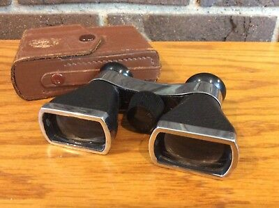 Vintage Binoculars Opera / Field OFUNA 3 X 10 Power w/ Leather Case Japan