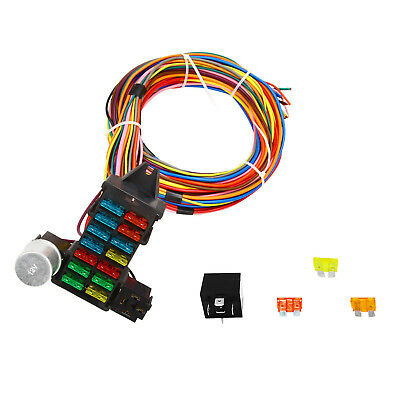 speedway 22 circuit universal street rod wiring harness w detailed Wiring Connectors 14 fuse 12 14 circuit wire harness gxl copper wire universal