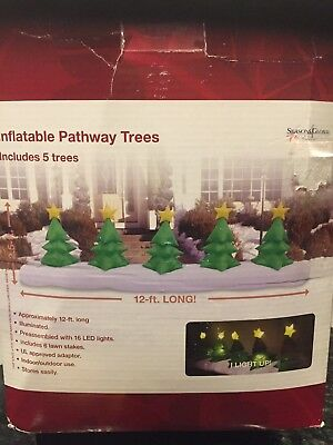 Airblown Inflatable 5 Christmas Pathway Trees