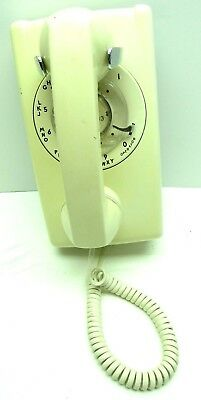 Vintage Bell System Western Electric Rotary Dial Telephone Wall Mount 554