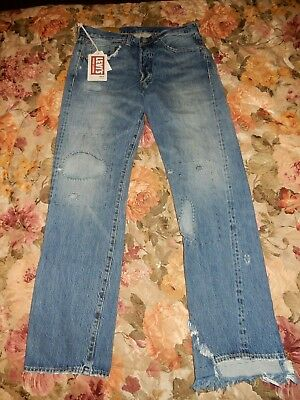 2de83bed NWT Levi's LVC Vintage Clothing 1947 501 XX Distressed Selvedge Jeans SZ 34  .
