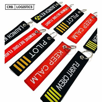Remove Flight Launch Key Chain Luggage Tag Embroidery Key Chain USA NEW