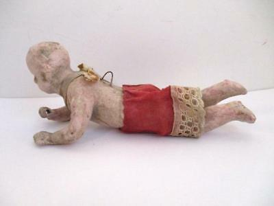 """Vtg 6"""" Victorian German Christmas Angel Ornament-Wax Over Composition-To Restore"""