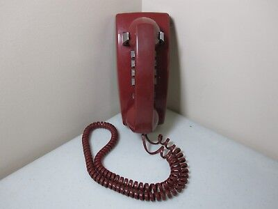 Vintage Collectible Bell System Western Electric Red Wall Phone 2554BMP