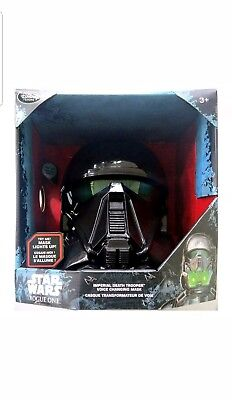 Star Wars Disney Store Rogue One Imperial Death Trooper Voice Changing Mask NIB