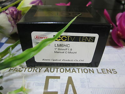 1PC Kowa LM6HC 6mm F1.8 Focal length 1 inch target industrial camera lens#SS