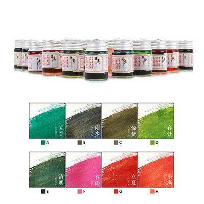 24 Colors Calligraphy Writing Painting Fountain Pen Ink with Glitter Powder