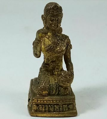 Nang Kwak Brass Art Amulet Wealth Lucky Rich Money Miniature Statue Figurine M01