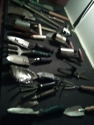 Huge Lot of Vintage Metal & Wood Garden Hand Tools
