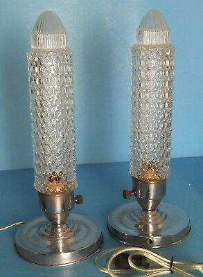 Art Deco Boudoir Accent Lamps Pair