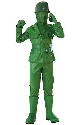 Brand New Green Army Boy Toy Soldier Child Costume