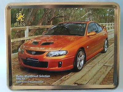 Mac's Classic Cars Embossed Biscuit Tin Holden Monaro CV8Z Limited Edition Macs