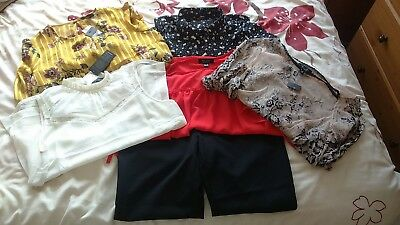Maternity clothes tops trouser bundle job lot ideal work wear size 8/10 Most New