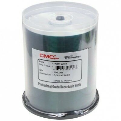 200 CMC Pro Taiyo Yuden 52X CDR (CD-R) 80min 700MB Shiny Silver in Cake Box