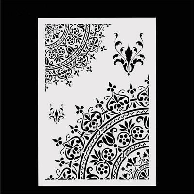 1X Mandala Crown Design Stencils Scrapbooking DIY Hand Craft Making Accessories
