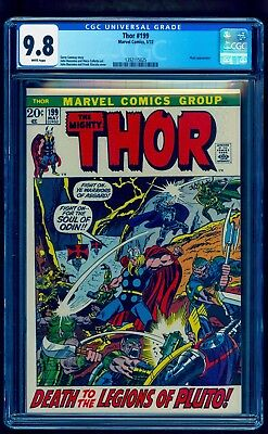 Thor 199 Cgc 9.8 Rare White Pages ** Highest Graded Copy