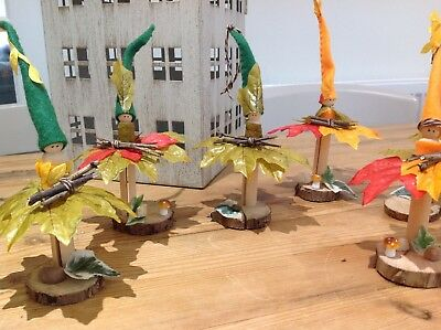 Autumnal/Halloween wooden peg fairies, really beautiful, handcrafted by me