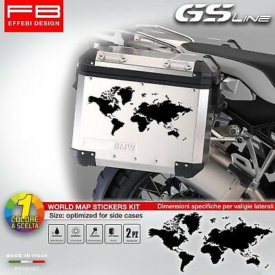 Adesivi Stickers Bmw R1200 Gs R1250 Gs HP Planisfero World Map Valigie Suitcase
