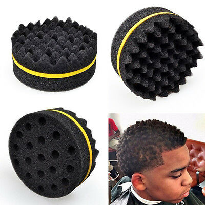 Barber Wave Double Side Hair Brush Sponge Dreads Coil Locking Curl Twist Tool