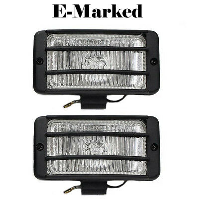 Universal Fog Spot Lights White Grille Light Car Van Pick Up Offroad E-Marked