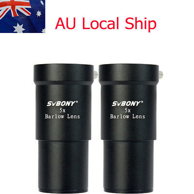 "2X SVBONY 1.25"" 5X Barlow Lens for Astronomical Telescope Eyepiece AU Stock"