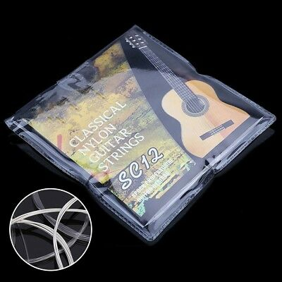 6pcs Nylon Guitar Strings for Classic Acoustic SC12 Strings Silver Replacement