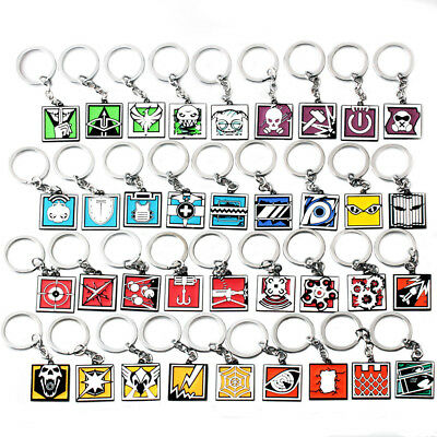 Video Game Rainbow Six Siege Action Frost Caveira Jager Bandit Keychain Keyring