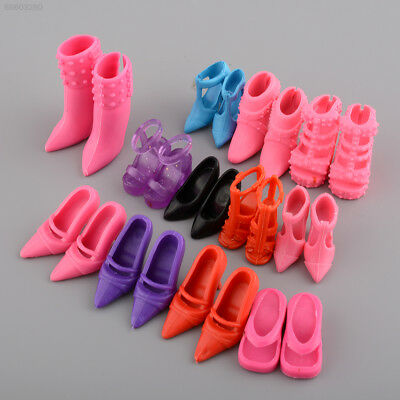 F492 Mix 24pcs/12Pairs Shoes Boots for Decor Barbie Doll Girls Play House Gift C