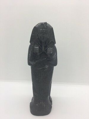 Egyptian Pharaoh King Tut Sarcophagus Coffin With Mummy Figurine 7""