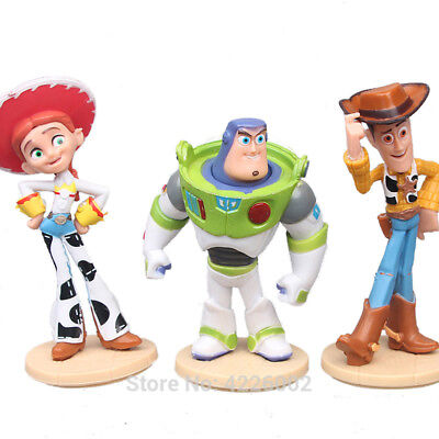 3pcs/lot Toy Story 3 Woody Buzz Lightyear Jessie Action Figures Hot Movie Collec