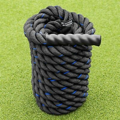 9m Battle Rope - 4cm Thick Weighted Gym Rope - Fitness, Conditioning & CrossFit