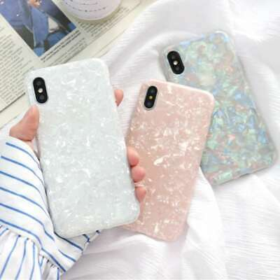 For iPhone 11 Pro Max 7 8 Plus XR Art Marble Shockproof Soft Silicone Case Cover